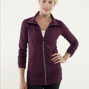 Lululemon Asana Plum Zip Up Jacket